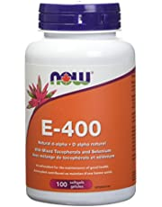 NOW E-400 Iu with Selenium Softgels, 100 Count