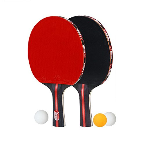 Junior Player (Boliprince 2PCS Table Tennis Racket Training Ping Pong Paddle with Carry Bag and 3 Balls for Beginner Junior Player (Shakehand))
