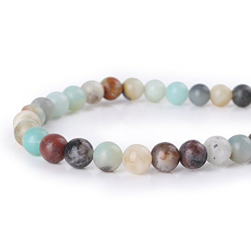 Mallofusa Artificial Mix Color Amazonite Gemstone Beads-6MM Round Loose Beads for Necklace Bracelets Jewelry Making