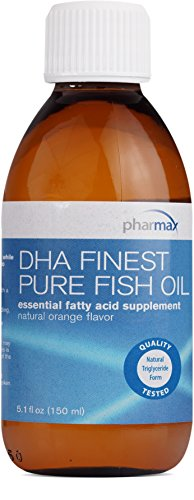 Pharmax – DHA Finest Pure Fish Oil – Supports Cognitive Health and Brain Function* – Natural Orange Flavor – 5.1 fl oz (150 ml) Review