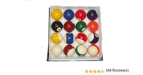 Professional pool ball set Juego de bolas de billar (5 cm), diseño de rayas y lisas: Amazon.es: Deportes y aire libre