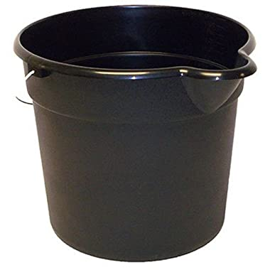 United Solutions PA0042 Black 3 Gallon (12 Quart) Plastic Utility Pail with Handle and Pouring Spout