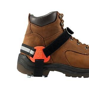 Ergodyne 6315 Strap On Heel Ice Traction Device, Black