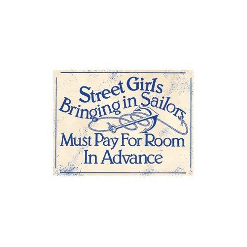 Street Girls Bringing in Sailors Refrigerator Magnet