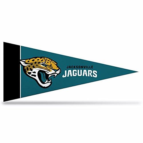 - Rico Industries NFL Jacksonville Jaguars 8-Piece 4-Inch by 9-Inch Classic Mini Pennant Décor Set