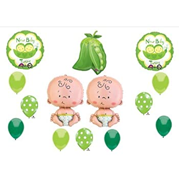 Amazon New Two Peas In A Pod Twin Baby Shower Balloon