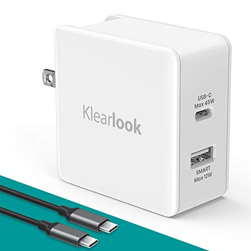 Klearlook USB Wall Charger Dual Port 2.4A Output Fast Charger Compatible iPhone X/8/XS/XS Max/XR, iPad Samsung More Phone Charger