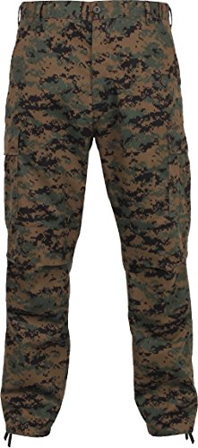 Woodland Digital Camouflage Military BDU Cargo Bottom Fatigue Trouser Camo Pants