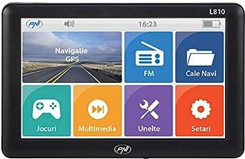 Sistema de navegación GPS PNI L810, 7 pulgadas, 800 MHz, 256M DDR, 8GB, transmisor FM, compatible con cualquier mapa, no hay mapa preinstalado: Amazon.es: ...