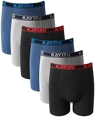 Men's Underwear, KAYIZU Brand Ultimate Soft Cotton Boxer Brief (6-Pack)