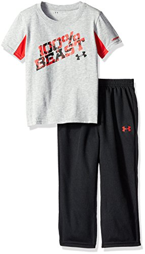 UPC 881634818809, Under Armour Toddler Boys' Short Sleeve Tee and Pant Set, True Gray Heather, 2T