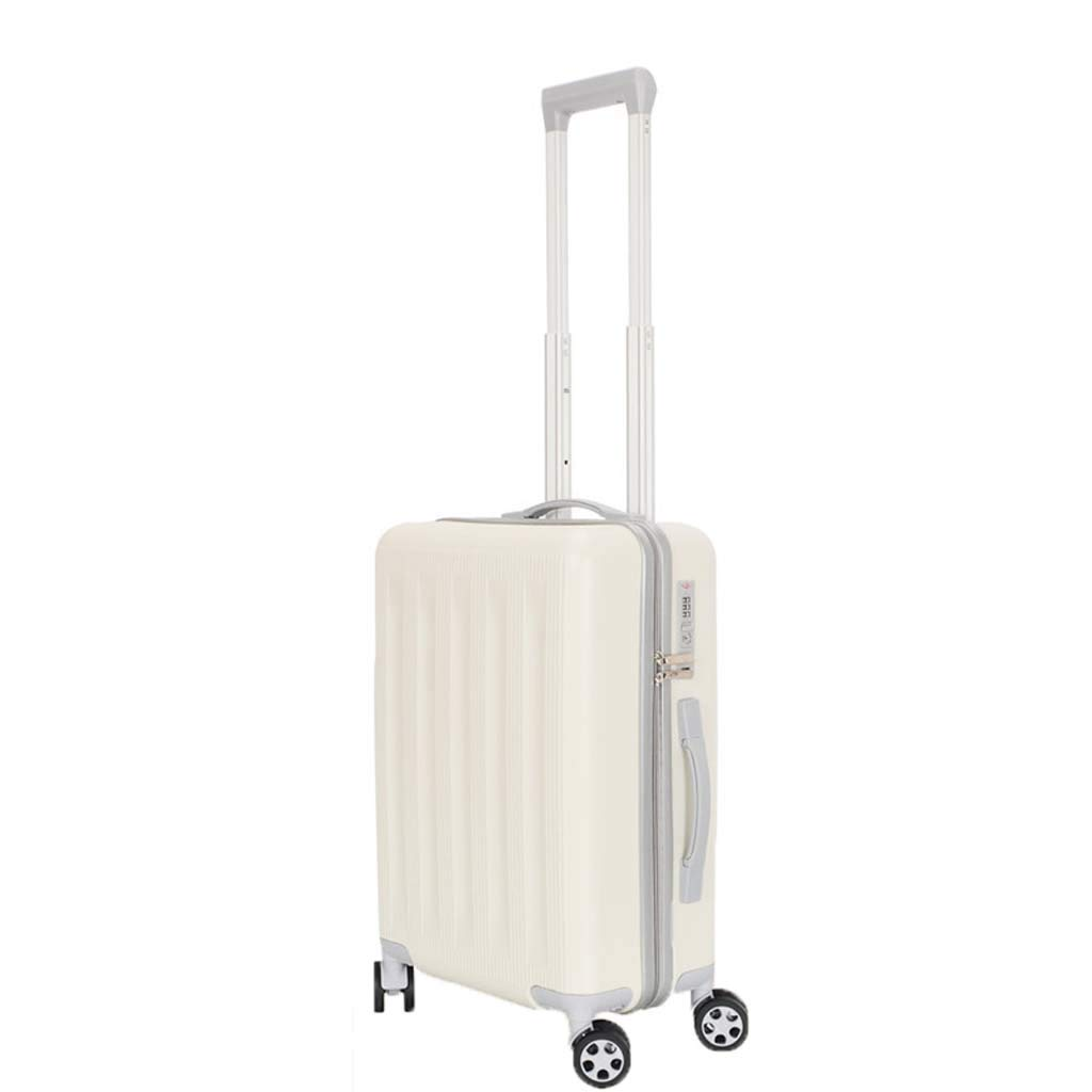 CLOUD Luggage Sets Travel Suitcase Color : Rice White, Size : 20 inches Male and Female Lightweight ABS Portable Consignment Suitcase Trolley Case Lock 4 Wheels