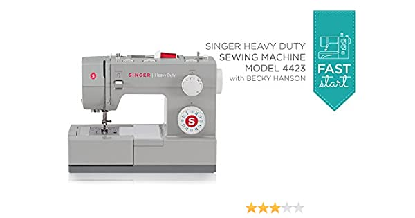 Amazon Fast Start Singer Heavy Duty 40 Singer Becky Hanson Awesome Singer 4423 Heavy Duty Sewing Machine