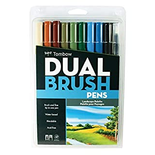 Tombow Dual Brush Pen Set, 10-Pack, Landscape Colors (56169) (B0044JKI82) | Amazon Products
