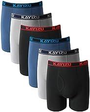 KAYIZU Brand Men's Underwear Ultimate Soft Cotton Boxer Brief (6-P