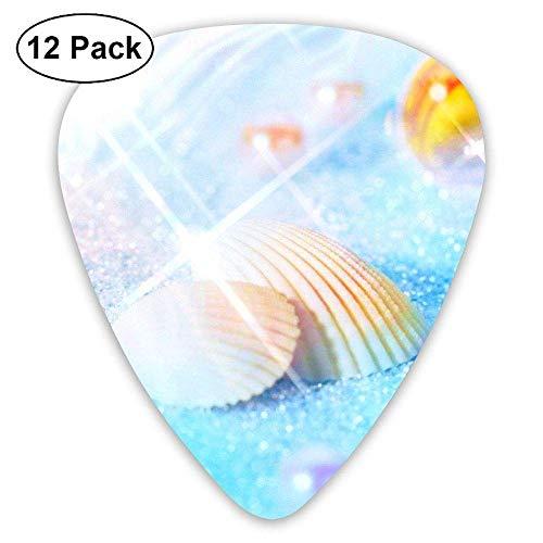 HANBINGPO Fantasy Shell Conch Guitar Picks 12pack Celluloid Plectrum Custom Gift for Musician