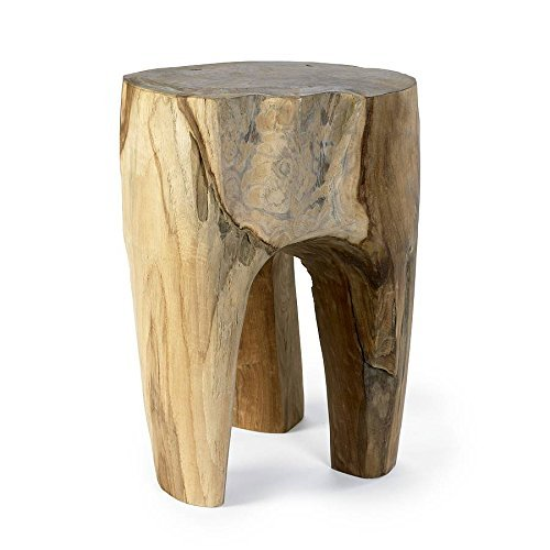 Rustic 3 Legged Teak Stool