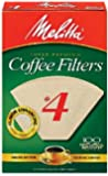 No. 4 Cone Natural Brown Paper Coffee Filter