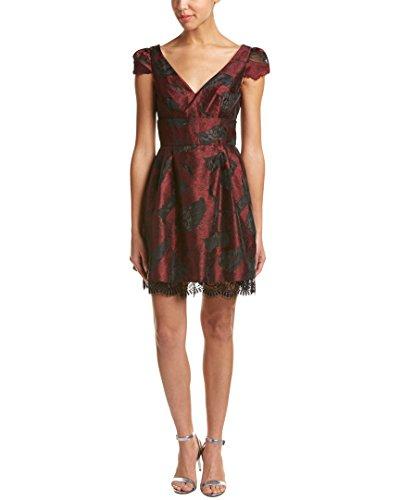 ml-monique-lhuillier-womens-silk-blend-fit-flare-dress-6-red