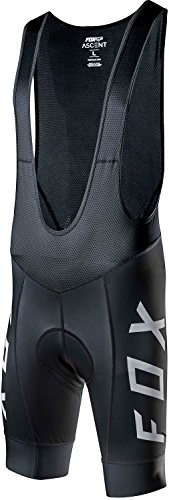 Fox Racing Ascent Bib Shorts - Men's Black/White, M