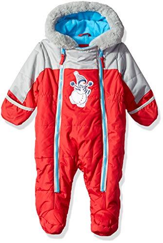 Wippette Baby Boys Snowsuit Pram, Snowman red, 6/9M
