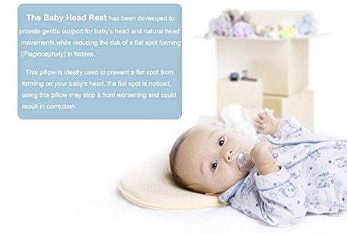 Loop-De-Loo Pink Soft Memory Foam Padded Head Shaping Plagiocephaly Baby Pillow