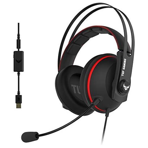 chollos oferta descuentos barato ASUS TUF Gaming H7 Red Auriculares compatibles con PC Mac PS4 Nintendo Switch smartphones y Xbox One con sonido 7 1 virtual integrado y con altavoces Asus Essence Rojo