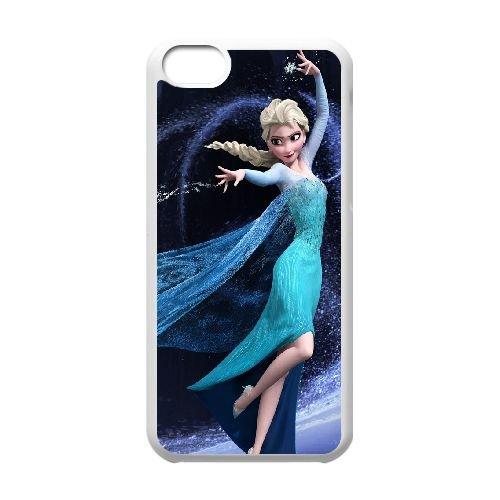 Elsa Frozen 001 coque iPhone 5C Housse Blanc téléphone portable couverture de cas coque EOKXLLNCD16950