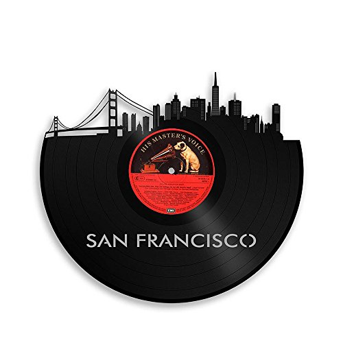 (VinylShopUS - San Francisco California Vinyl Wall Art Cityscape Unique Gift)