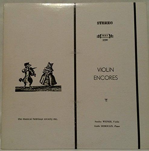 (VIOLIN ENCORES: BELA BARTOK: ROMANIAN FOLK DANCES ~ GABRIEL FAURE: ROMANCE, OP. 28 ~ STANLEY WEINER, VIOLIN ~ GISELE DEMOULIN, PIANO ~ MUSICAL HERITAGE SOCIETY MHS 3294 - 41.77 minutes)