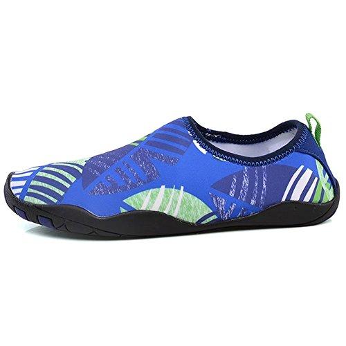 HOBIBEAR Männer Aqua Wasser Schuhe Schnell Trocknende Rutschfeste Multifunktionale Für Strand Pool Surf Rock Rafting Königsblau