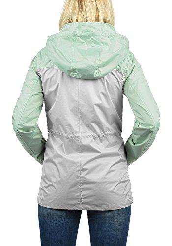 Cortavientos para Green con 23011 Capucha Briddi BlendShe Impermeable Chaqueta Mujer De Entretiempo Subtle YwIxaOP