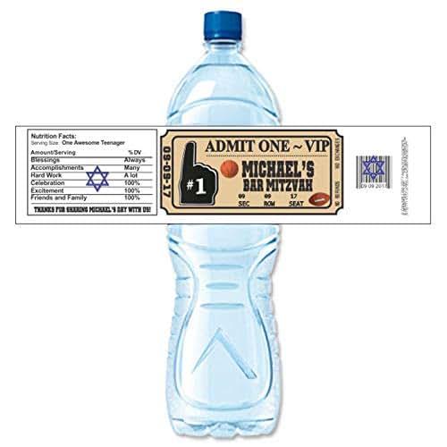 Personalized Sports Bottle Labels: Amazon.com: Sports Ticket Personalized Water Bottle Labels