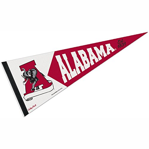 WinCraft Alabama Crimson Tide Official NCAA 12 inch x 30 inch Premium Pennant by 991096