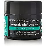Herbal Choice Mari Organic Night Cream Rose Hip & Argan 50ml/1.7floz Glass Jar