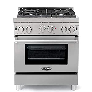 Cosmo GRP304 30 in. Freestanding/Slide-in Gas Range with 4 Sealed Burner Rangetop, Rapid Convection Single Oven, Heavy… 11