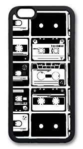 Cassette Collage1 TPU Case Cover for iPhone 6 4.7inch Black