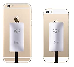 iQi Mobile - New & Improved 0.5mm Thin Qi Wireless Charging Receiver for iPhone 7, 7 Plus, 6S, 6S Plus, SE, 6, 6 Plus, 5, 5C, 5S For a Soft Case