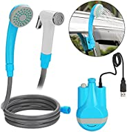 Camping Shower, WADEO Portable Handhold Outdoor Shower Detachable USB Rechargeable Batteries Outdoor Shower He