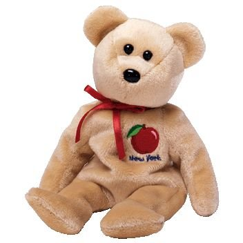 7fabc640392 Amazon.com  TY Beanie Baby - BIG APPLE the Bear (Show Exclusive ...