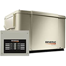 Generac 6998 Guardian Series 7.5kW/6kW Air Cooled Home Standby Generator with 8 Circuit 50 Amp Transfer Switch