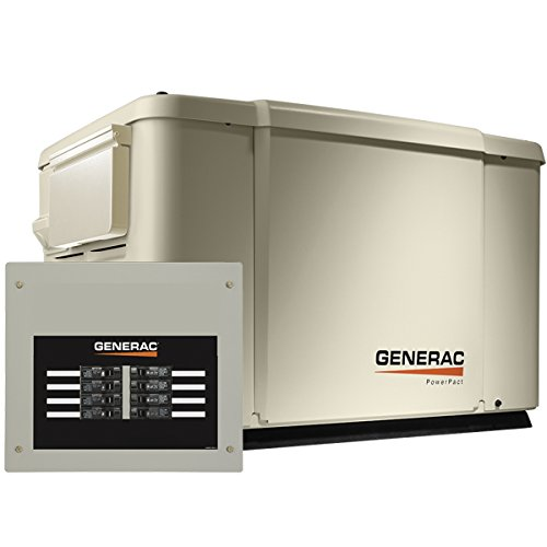 (Generac 6998 Guardian Series 7.5kW/6kW Air Cooled Home Standby Generator with 8 Circuit 50 Amp Transfer Switch)