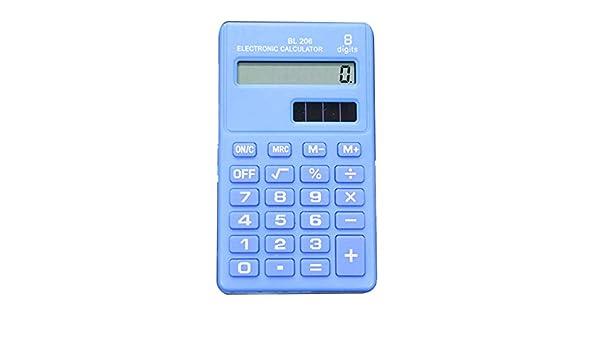 Outtybrave Pocket Mini Calculadora Electr/ónica de 8 d/ígitos Calculadora de Negocios Estudiantes Suministros de Oficina 9.5 5.5cm azul claro