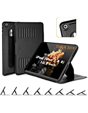 ZUGU CASE (2020/2019) Muse Case for iPad 7th / 8th Gen 10.2 Inch Protective, Thin, Magnetic Stand, Sleep/Wake Cover - Black (Fits Model #s A2197 / A2198 / A2200 / ​A2270​ / ​A2428 / ​A2429 / A2430​)