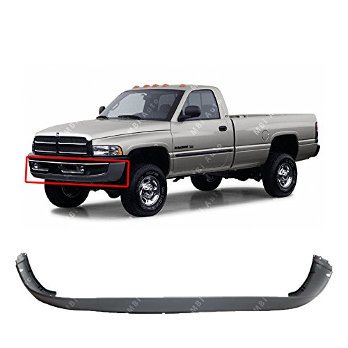 MBI AUTO - Textured, Gray Front Bumper Cover Fascia for 1994-2002 Dodge RAM 1500 2500 3500 94-02, - Cover Front Dodge