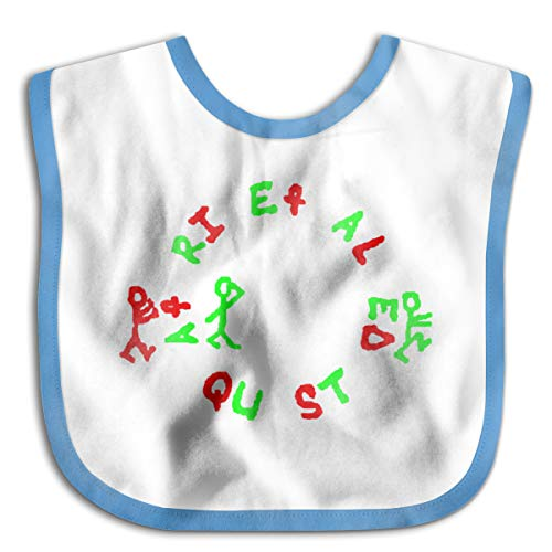 Wonalissy Toddler Boys and Girls A Tribe Called Quest Logo Waterproof Baby Drool Bibs One Size Blue