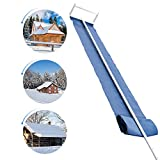 Signstek Roof Snow Removal Tool, 16ft Roof Rake for Snow Removal with Adjustable Extended Handle, Lightweight, Easily Remove and Storage, Tear-Resistant Snow Slide, Ideal for Long or Low-Pitched Roofs, Unique Design