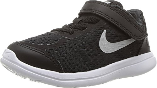 Infant Nike Shoes - Nike 904239-001 : Baby Boys Flex RN Sense Athletic Shoe Black (Black/Metallic Silver, 4 M US Toddler)