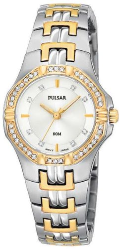 46 Swarovski Crystals Watch (Pulsar Women's PTC388 Crystal Accented Two-Tone Stainless Steel Watch)