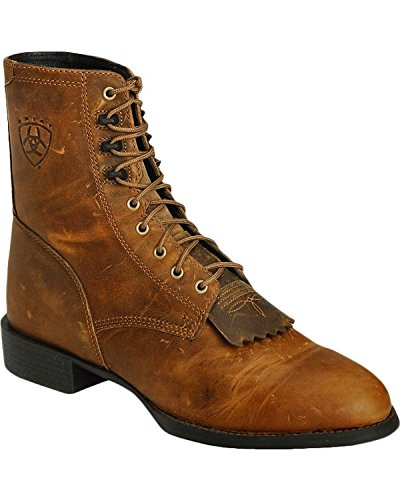 Heritage Boots Mens Roper (Ariat Mens Heritage Lacer Ropers/Lacers 8 EE Distressed Brown)
